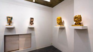 「顔の奥行き」展示風景2